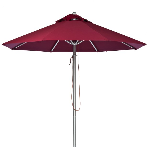 7.5' Market Umbrella Fabric: Burgundy