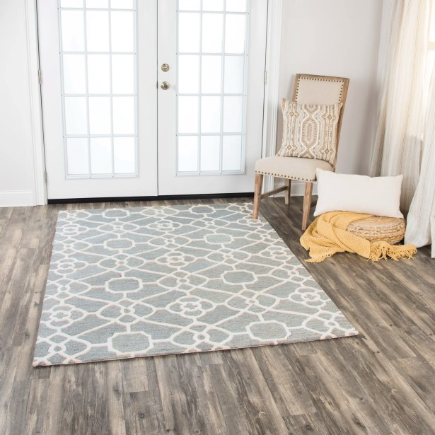 Genny Hand-Tufted Wool Gray Area Rug Rug Size: 5' x 7'