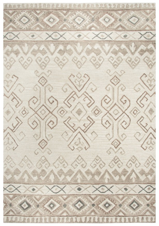 Pittard Hand-Tufted Wool Ivory Area Rug Rug Size: 5' x 7'