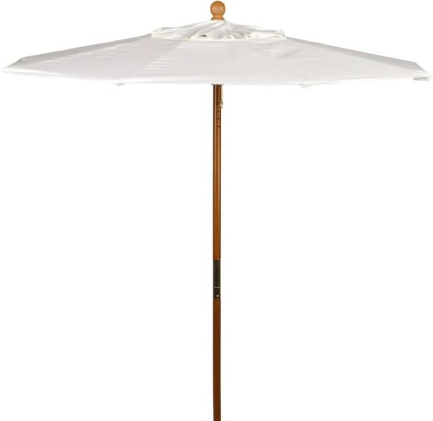Starcher 6' Market Umbrella Fabric: Sunbrella Natural