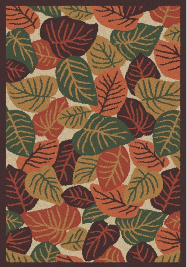 Cumberland Autumn Leaves Earth Rug Rug Size: 5' x 7'6