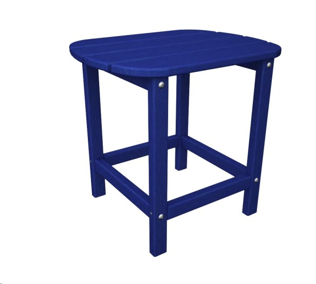 South Beach Side Table Finish: Pacific Blue, Table Size: 18