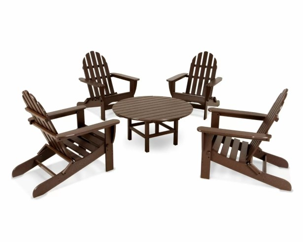 Adirondack 5 Piece Conversation Set Color: Black