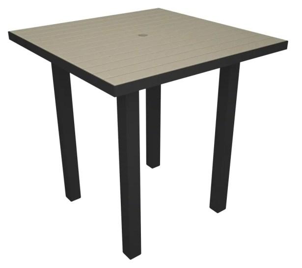 Euro Side Table Base Finish: Textured Black, Top Finish: Sand