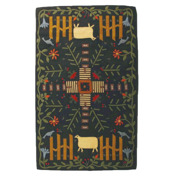 Penny Home Sweet Home Black Area Rug Rug Size: 7' x 9'