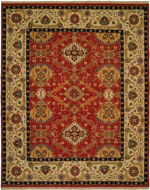 Khalifa Hand-Woven Red/Ivory Area Rug Rug Size: Runner 2'6