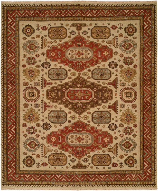 Jeddah Hand-Woven Ivory/Brown Area Rug Rug Size: Rectangle 4' x 8'