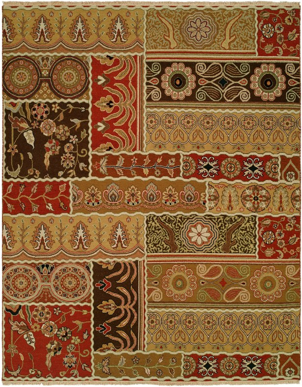 Sudan Hand-Woven Brown/Red Area Rug Rug Size: Rectangle 6' x 9'