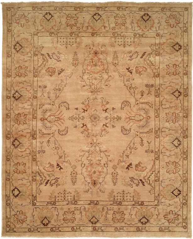 Puntarenas Hand-Knotted Beige Area Rug Rug Size: Rectangle 12' x 15'