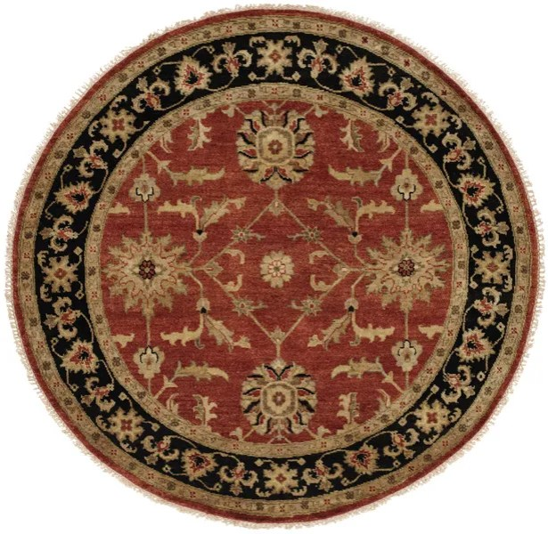 Chile Hand-Knotted Rust/Black Area Rug Rug Size: Rectangle 3' x 5'