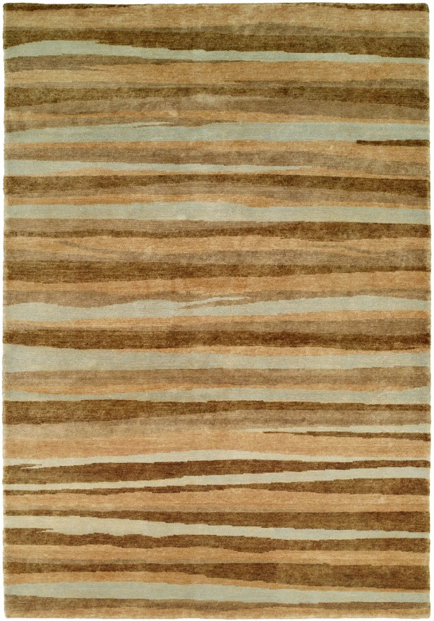 Panama Hand-Knotted Brown/Gray Area Rug Rug Size: 6' x 9'