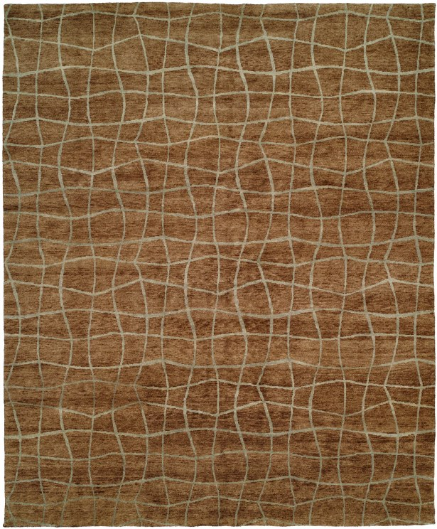 Awesome San Antonio Hand Knotted Brown Area Rug Rug Size 8 X 10