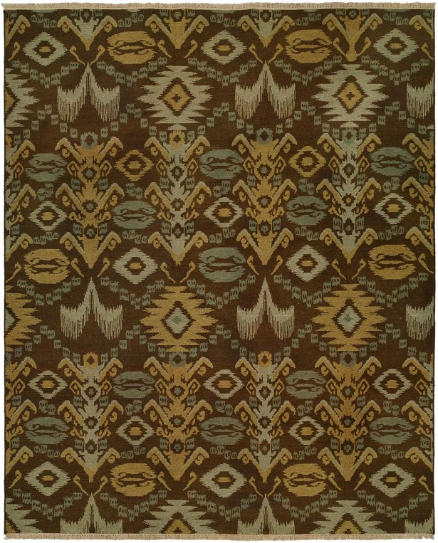 Gon Hand-Woven Brown/Green Area Rug Rug Size: Runner 2'6