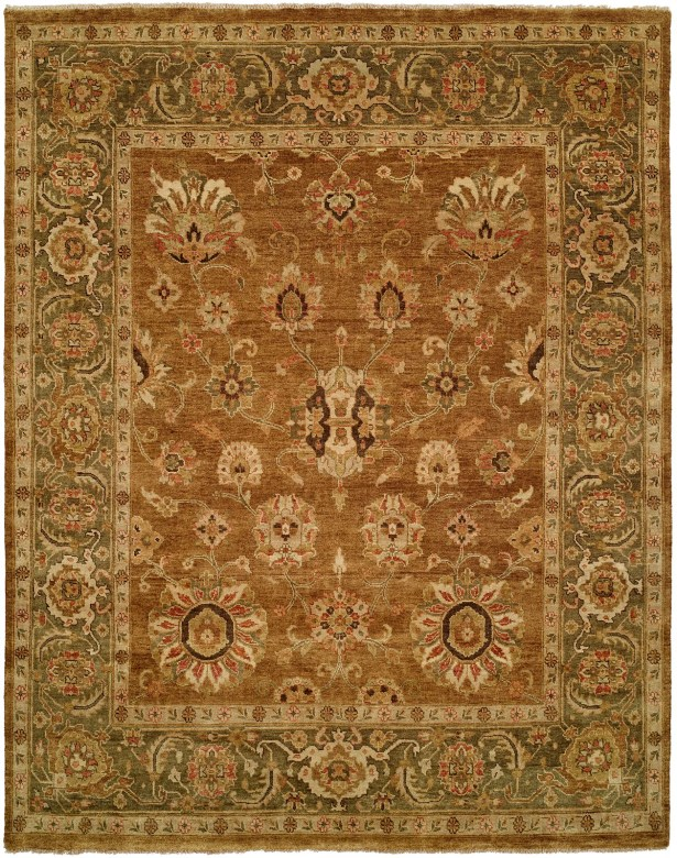Hand-Knotted Brown Area Rug Rug Size: Rectangle 10' x 14'