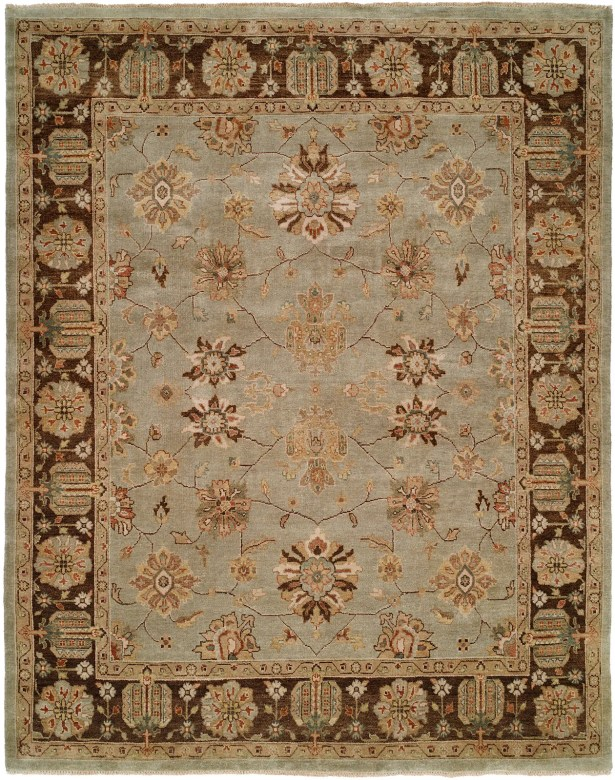 Chongqing Hand-Knotted Light Blue/Brown Area Rug Rug Size: Runner 2'6