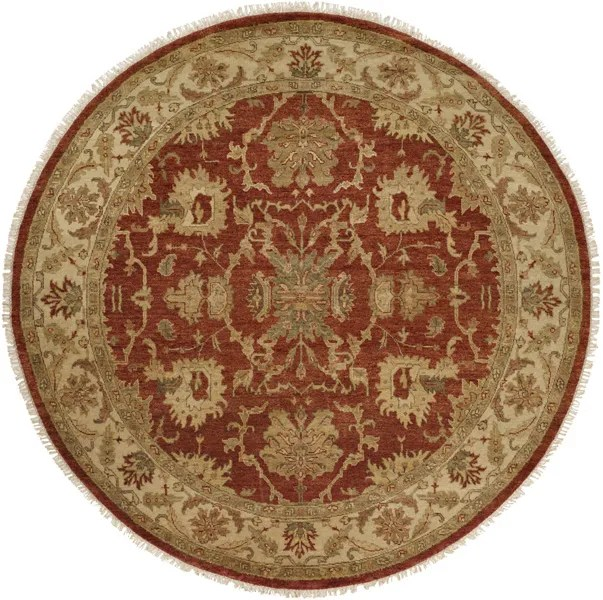 Pichilingue Hand-Knotted Rust/Ivory Area Rug Rug Size: Runner 2'6