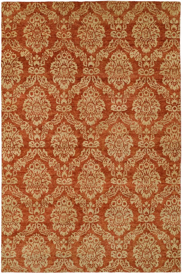 Surrey Hand-Knotted Beige/Red Area Rug Rug Size: Rectangle 3' x 5'