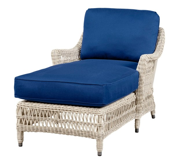 Chaise Lounge with Cushion Fabric: Meridian Wren