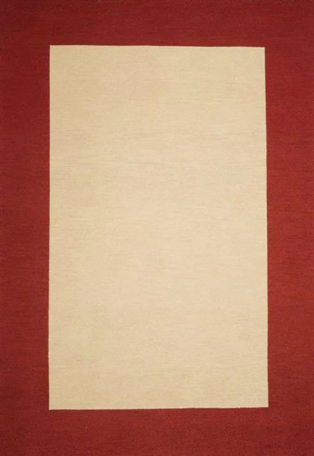Henley Hand-Tufted Beige/Red Area Rug Rug Size: 5' x 8'