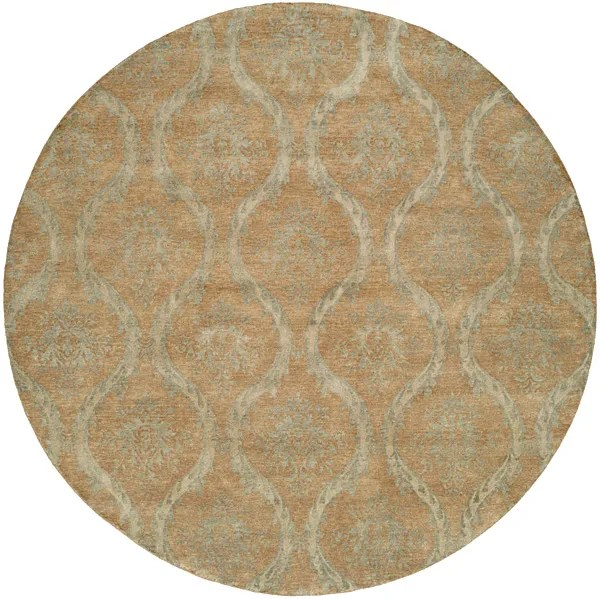Nicaragua Hand-Knotted Brown/Blue Area Rug Rug Size: Rectangle 10' x 14'
