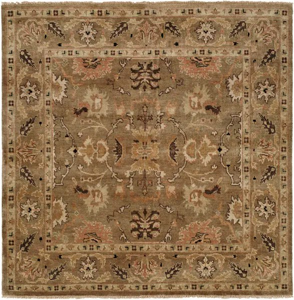 Eritrea Hand-Knotted Brown Area Rug Rug Size: Square 10'
