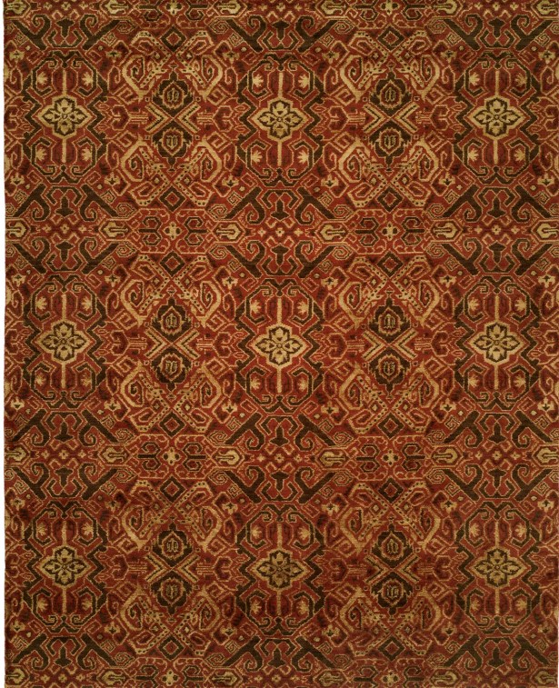 Hand-Woven Brown/Red Area Rug Rug Size: 4' x 6'