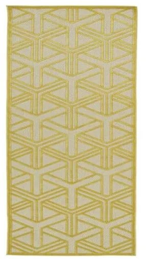 Bainsbury Gold Indoor/Outdoor Area Rug Rug Size: Rectangle 7'10