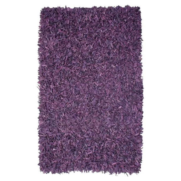 Baum Leather Purple Area Rug Rug Size: Rectangle 5' x 8'