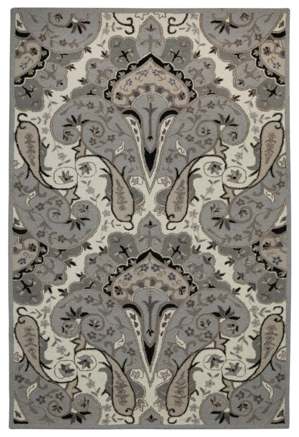 Structure Hand-Tufted Silver Area Rug Rug Size: Rectangle 5' x 8'