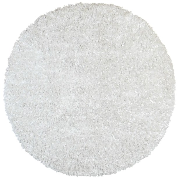 Baumann Hand-Loomed White Area Rug Rug Size: Round 5'