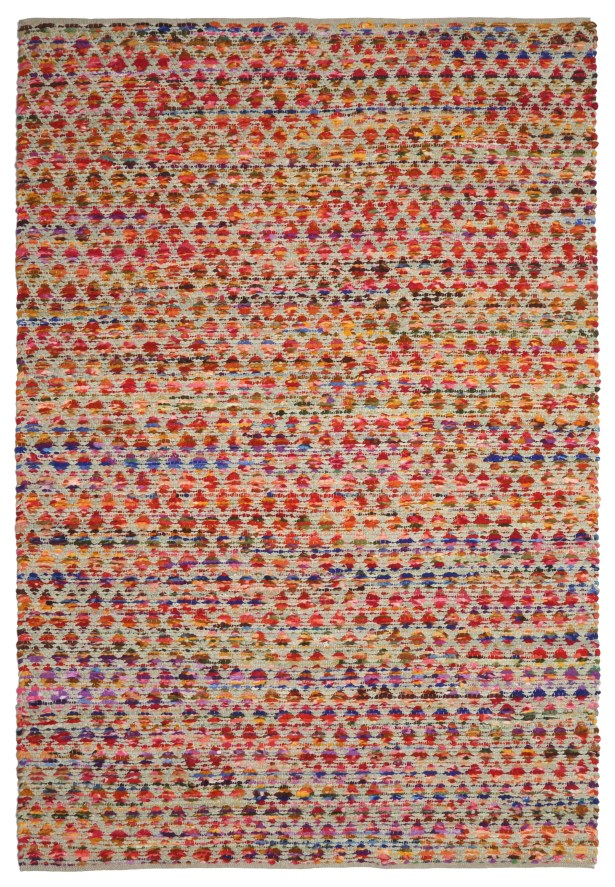 Complex Hand-Loomed Red/Orange Area Rug Rug Size: 4' x 6'