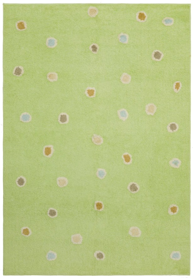 Carousel Green Dots Area Rug Rug Size: 4' x 6'