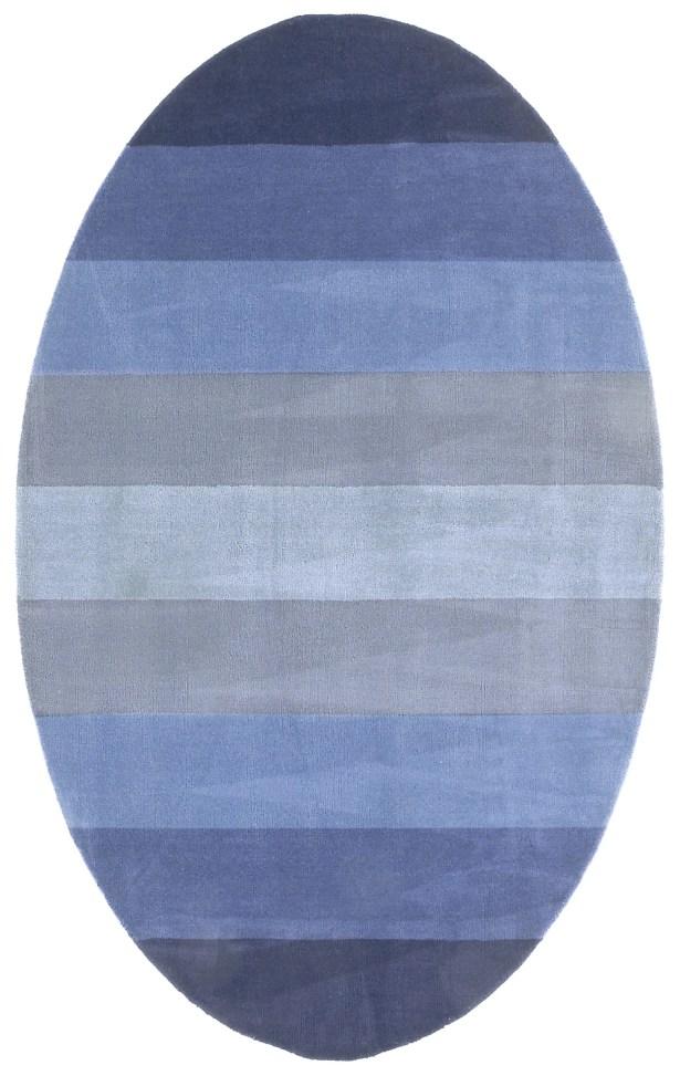 Degarmo Blue Stripes Area Rug Rug Size: Rectangle 8' x 10'