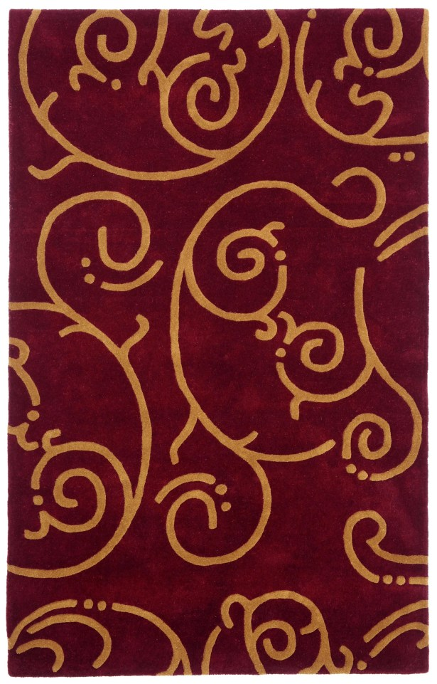 Structure Burgundy Archer Rug Rug Size: Rectangle 4' x 6'