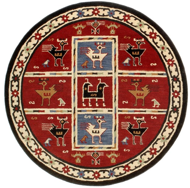 Traditions Tribal Burgundy Rug Rug Size: Rectangle 4' x 6'