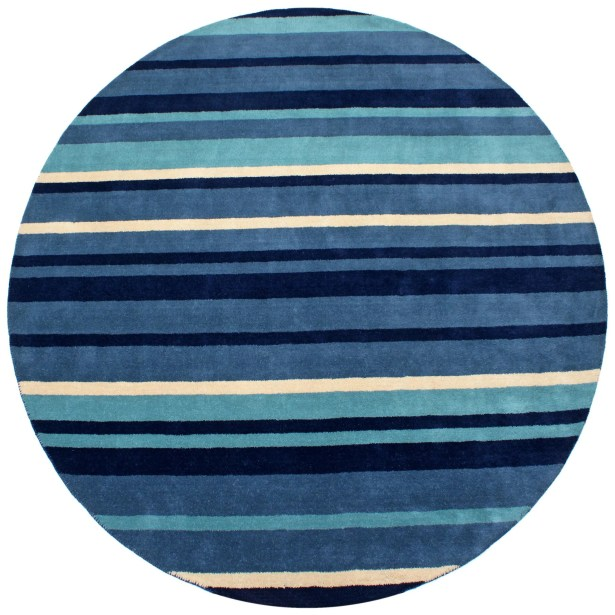 Cosmo Navy Rug Rug Size: Round 8'