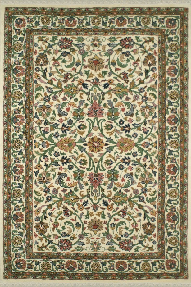 American Home Classic Kashan Ivory Area Rug Rug Size: Runner 2'6