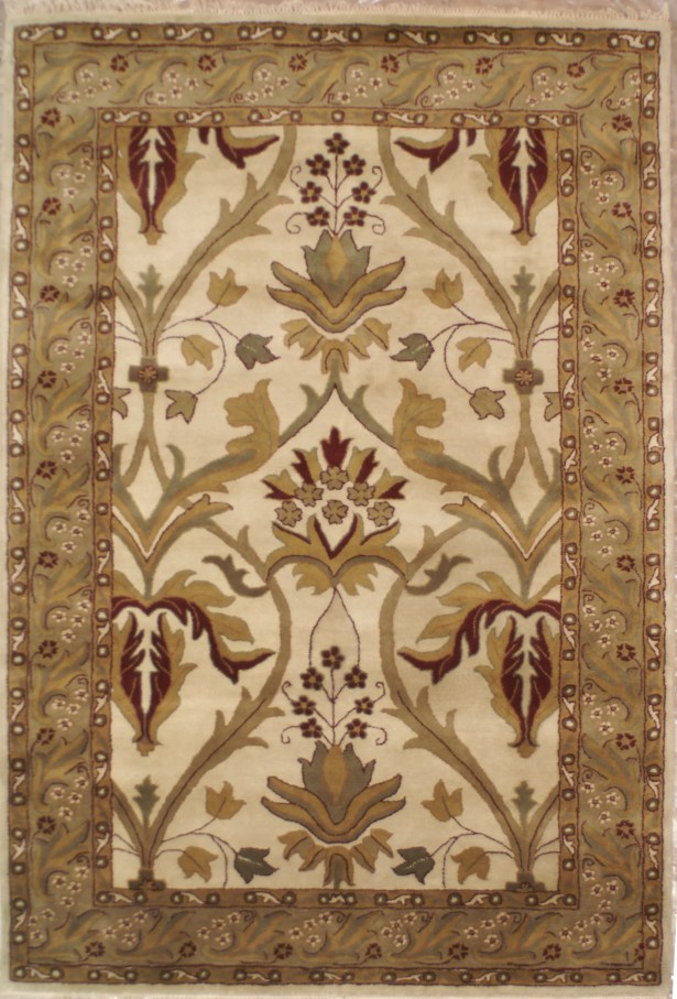 American Home Classic Arts & Crafts Antique Ivory & Sage Area Rug Rug Size: Runner 2'6