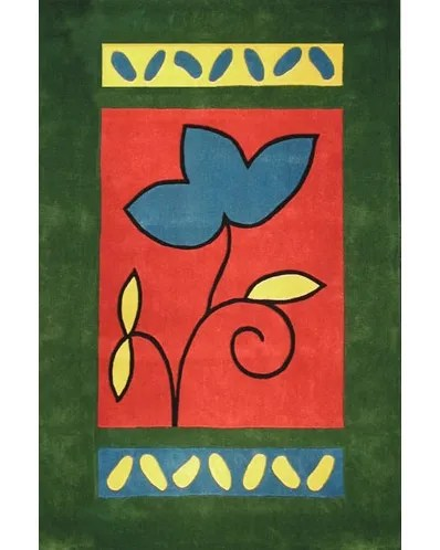 Bright A Single Flower Area Rug Rug Size: 5' x 8'