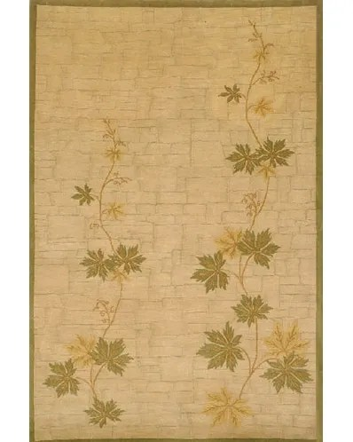 Neo Nepal Climbing Vine Beige Area Rug Rug Size: 7'6