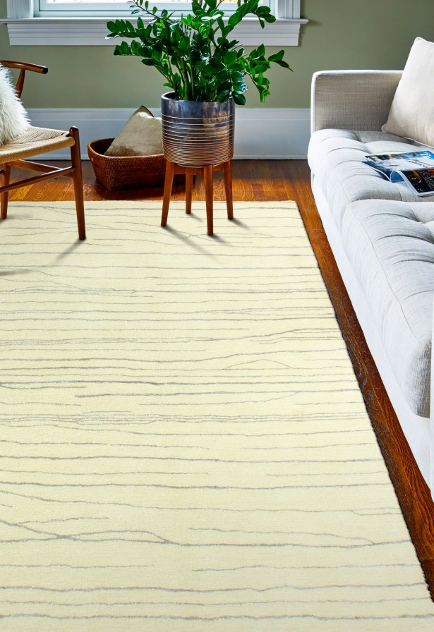 Jaqueline Hand-Tufted Ivory/Gray Area Rug Rug Size: 9' x 12'