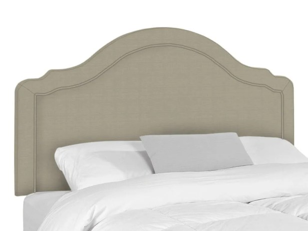 Mill Upholstered Panel Headboard Upholstery: Seagull, Size: Queen