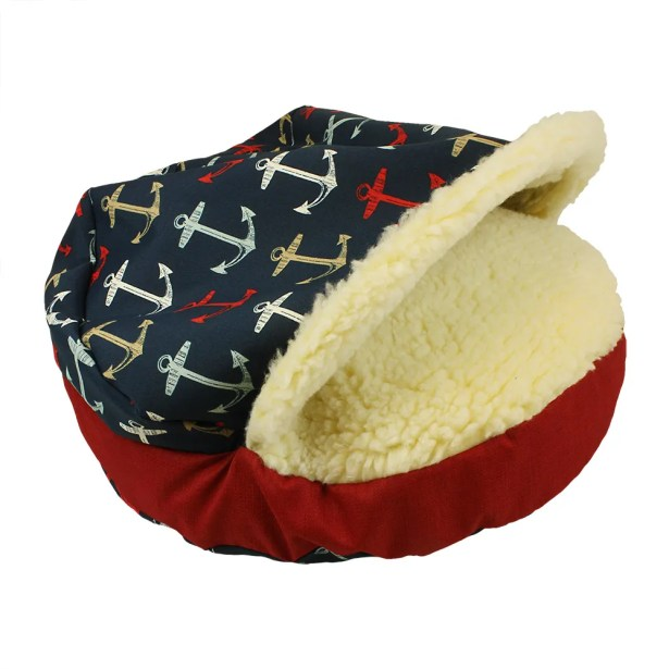Pool and Patio Cozy Cave Anchors Dog Bed Size: X-Large (45