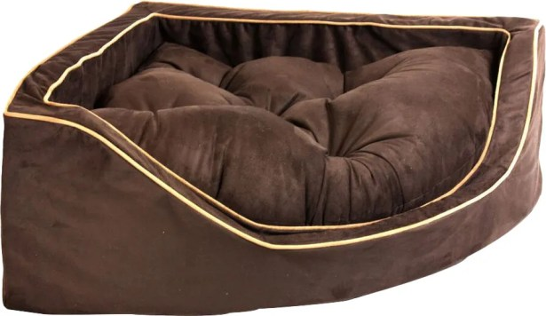 Luxury Corner Bolster Dog Bed Size: Large (29
