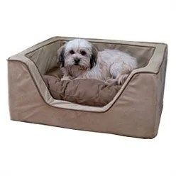 Luxury Square Nest Dog Bed Color: Peat/Coffee, Size: X-Large (31.5