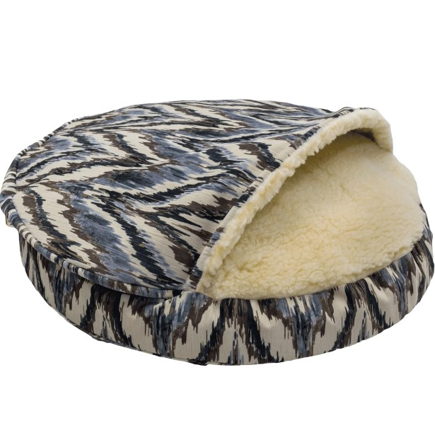 Snow Dog Orthopedic Premium Cozy Cave Hooded Dog Bed with Sherpa Interior Size: Large (35