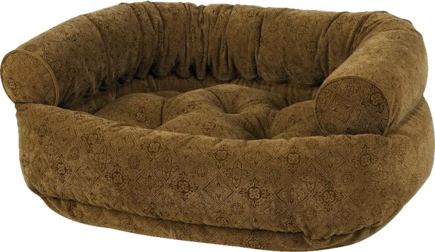 Double Bolster Dog Bed Size: Small (27