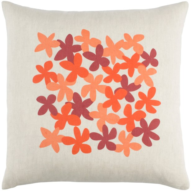 Flying Colors Little Flower Linen Throw Pillow Size: 22