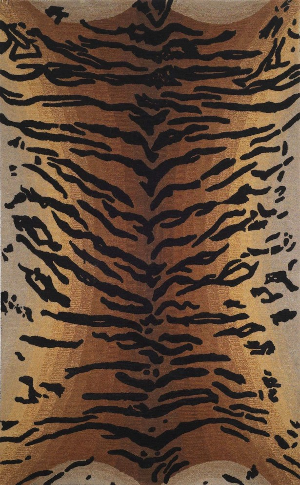 Bowdens Tiger Rug Rug Size: Rectangle 3'6