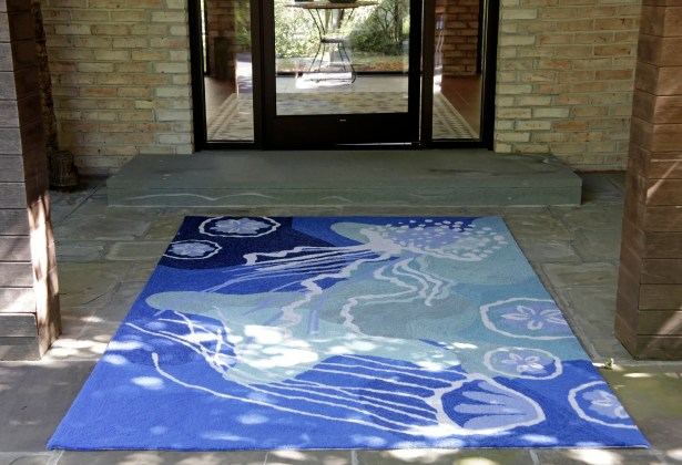 Claycomb Hand-Tufted Blue Indoor/Outdoor Area Rug Rug Size: Rectangle 5' x 7'6